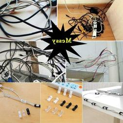 20Pcs wire storage clips buckle securing cable clamp data li