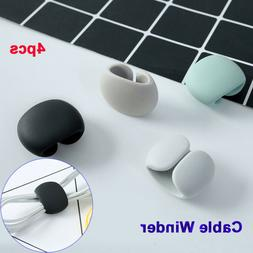 4pcs Wire Fixed Storage Data Cord Tidy Holder Round Clip Cab