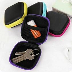 Data Cable Storage Bag Earphone Wire Organizer Case for Head