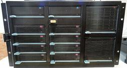 HP DATA STORAGE RACK A3312A, A3312-60001, WITH 8 4.3GB HARD