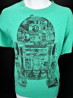 Large Star Wars T Shirt Tee Memory Storage Data R2D2 The For