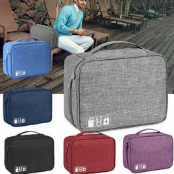 Travel Storage Bag USB Charger Data Cable Wire Electronics O